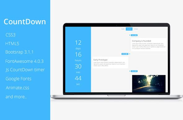 CountDown is a responsive under construction  coming soon website - construction form templates