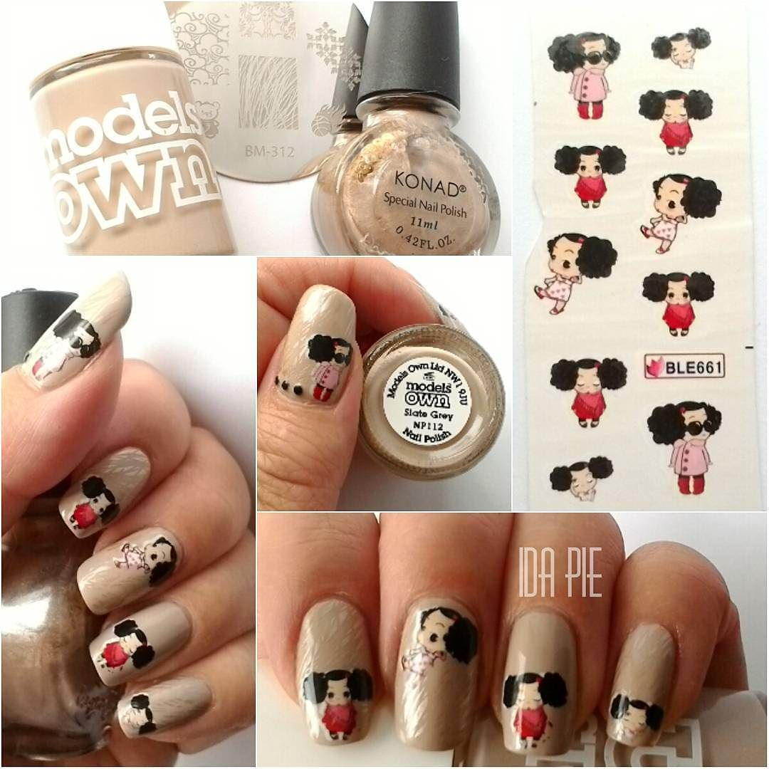 Modelsown Slate Grey Nailpolish Naillacquer Manicure Mani