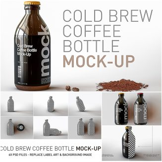 Cold Brew Coffee Bottle Mock Up