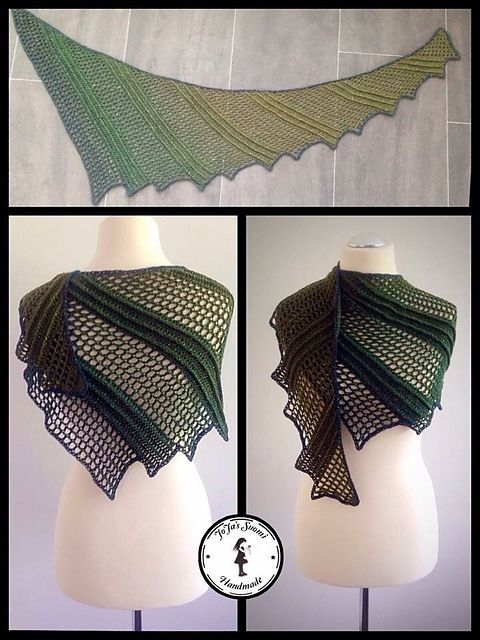 This shawl is amazing :) Comes from Revelryand belongs toJasminRäisänen. She is an artist who discover thisgorgeous pattern. Has such a great idea, impressing everyone in the world at on