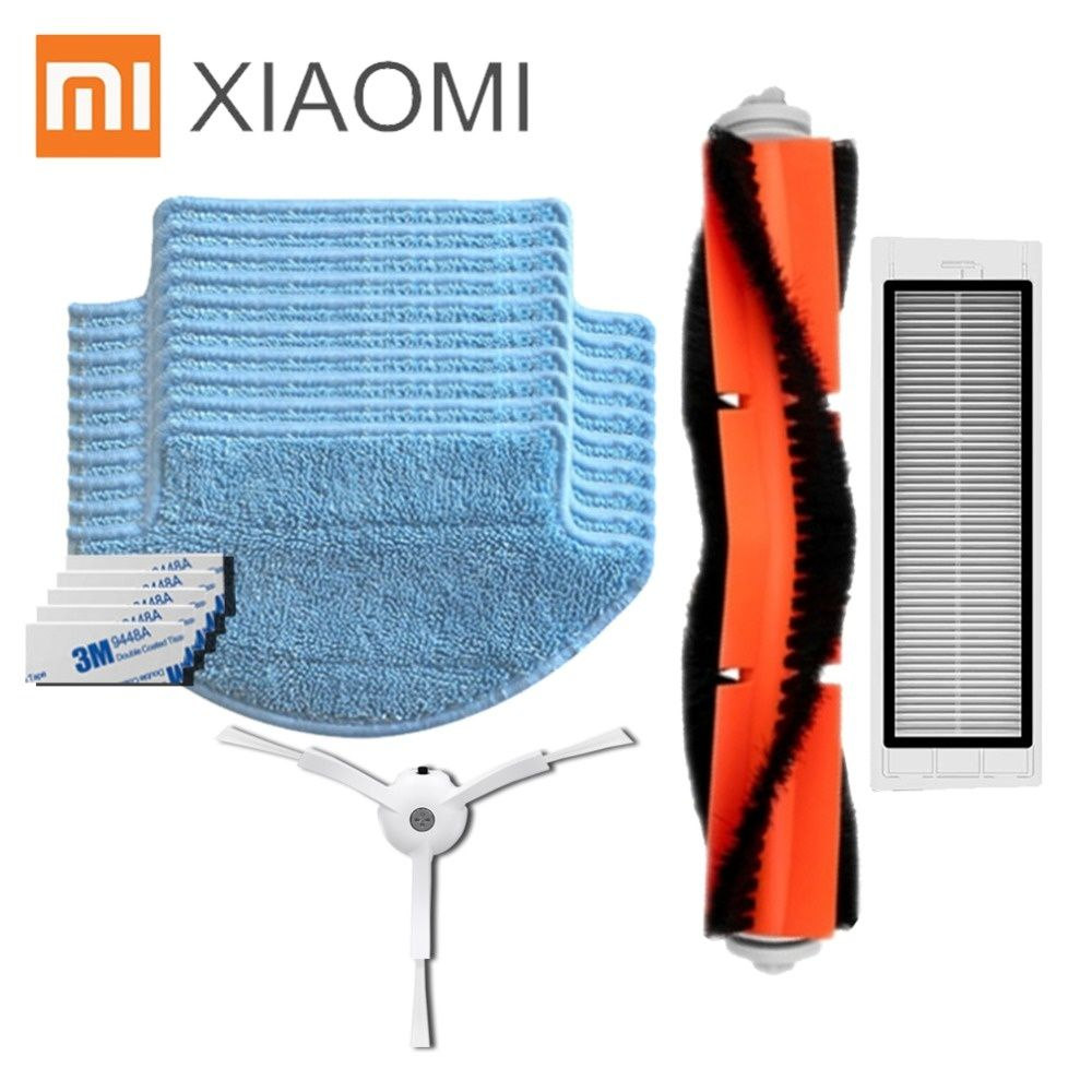 Newest Replacement For Xiaomi Mi Robot Vacuum Cleaner Parts Main Roll Brush Hepa Filter Side Brush Robot Vacuum Cleaner Robot Vacuum Vacuum Cleaner Parts