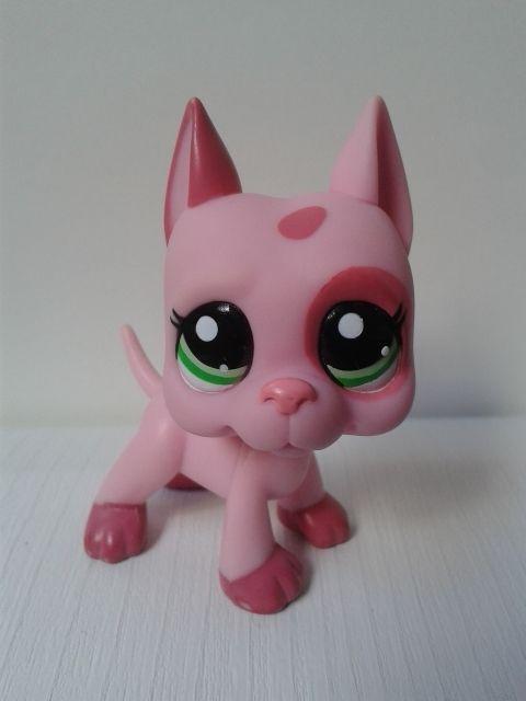 Lps Littlest Pet Shop Pink Great Dane Dog 2598 Lps Dog Pet