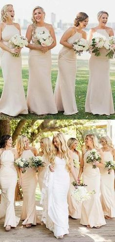 Simple Halter Long Mermaid Bridesmaid Dresses With Lace, Bridesmaid Dresses, VB01634 Simple Halter Long Mermaid Bridesmaid Dresses With Lace, Bridesmaid Dresses, VB01634 #lacebridesmaids