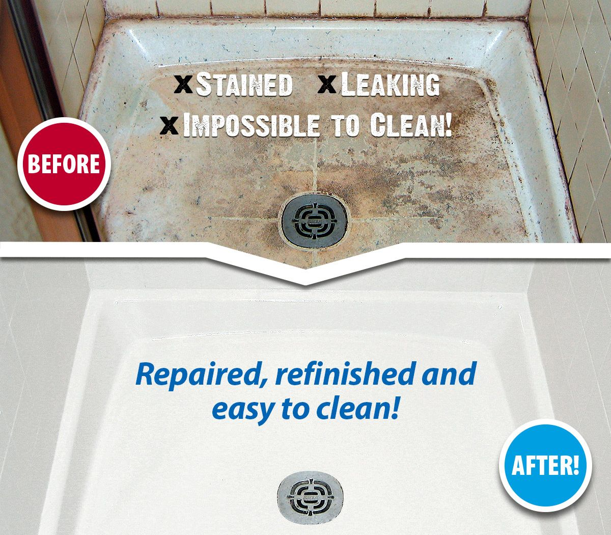 Tired Of Your Impossible To Clean Shower Tile Call Miracle