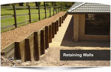 Timber Retaining Wall On Slope   Google Search