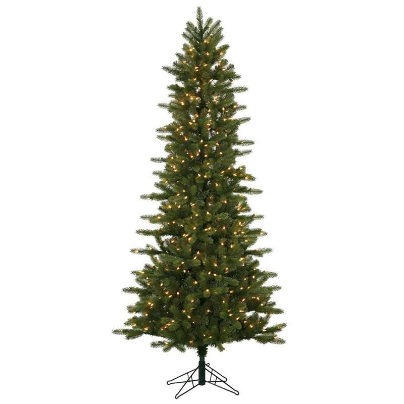 "Kennedy Fir Christmas Tree: Vickerman A138056 5.5' X 34"" Kennedy Slim 300CL Dura-Lit"