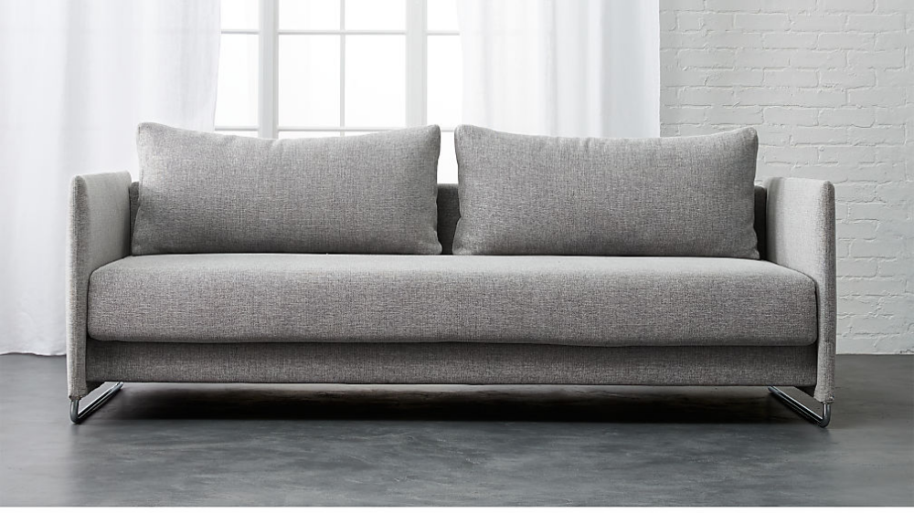 Tandom Microgrid Grey Sleeper Sofa With Images Best Sleeper