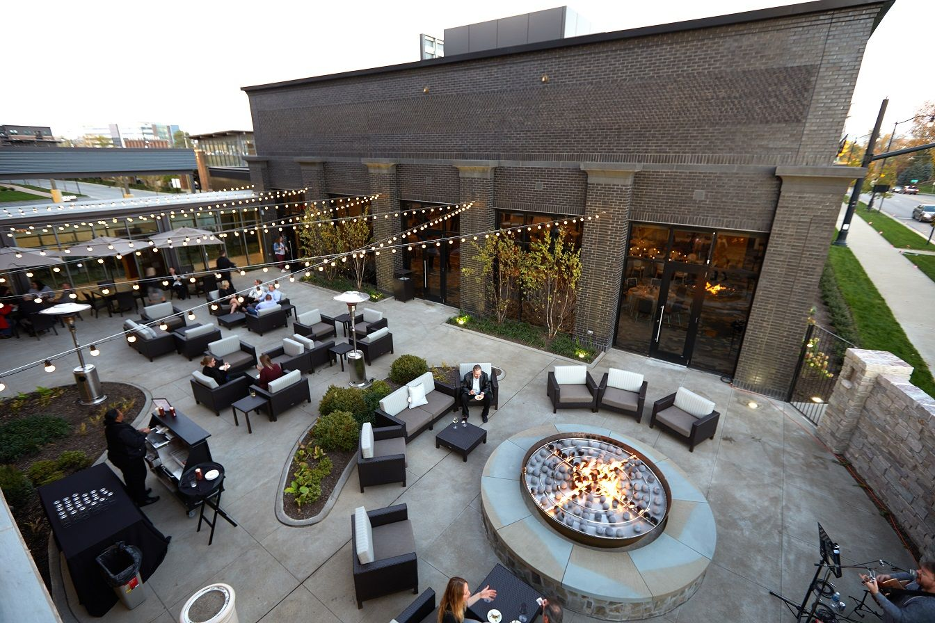 Outdoor Event Space With A Firepit Event Space Design Event