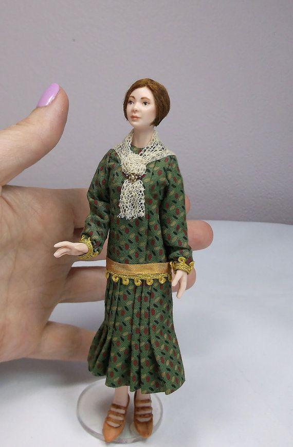 low priced 65074 cf151 Miniature Dollhouse Doll 1 12 Scale  Twenties door LillisLittles