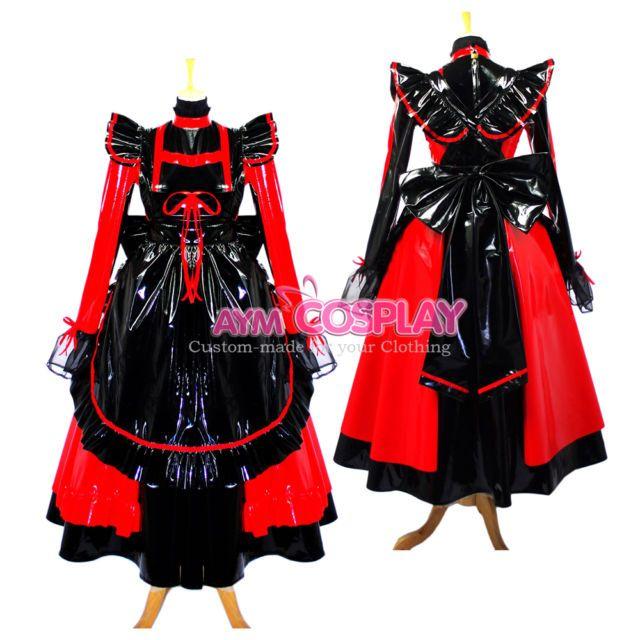 lockable sissy maid  PVC dress Unisex  tailor-made[G634]   eBay