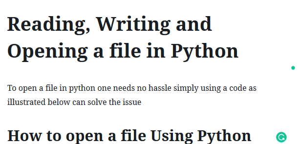 2 Amazing Way In Reading Writing And Opening A File In Python