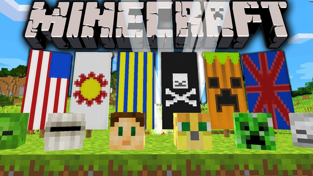 Minecraft 1 8 Snapshot Custom Banners Survival Monster Heads