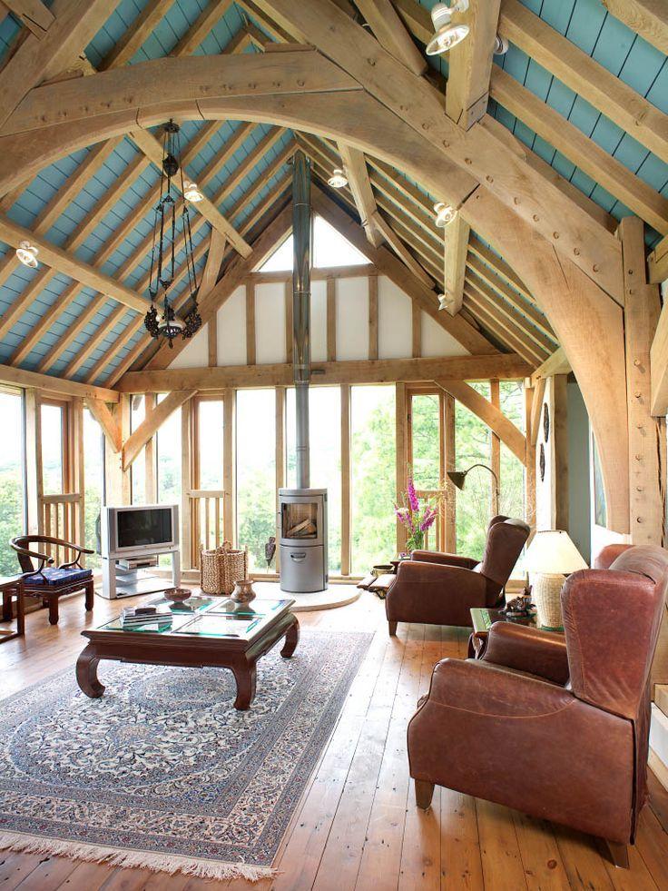 Oak framed houses carpenter oak in 2020 upside down