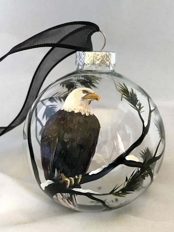 Bald Eagle Christmas Tree Ornament American Freedom Hand ...