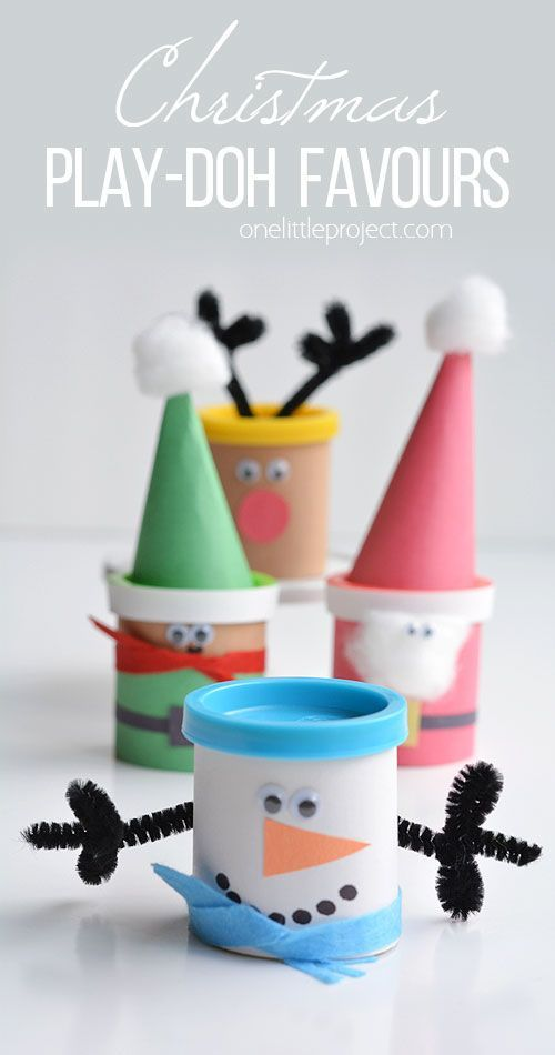 Christmas Party Favour Ideas Part - 23: These Easy Christmas Play-doh Favours Make ADORABLE Little Party Gifts For  Kids! They