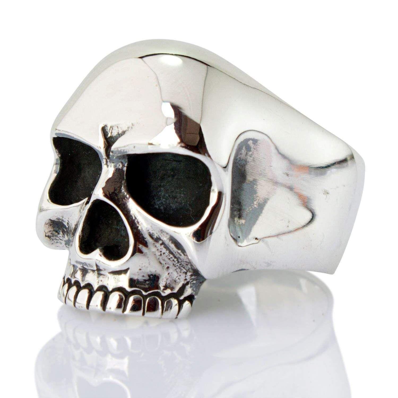 Keith Richards Skull Ring Silver skull ring, Skull ring