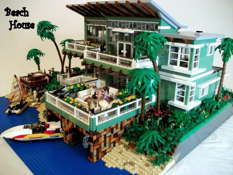 Pin von bruce dracula auf lego architektur pinterest for Lego modernes haus