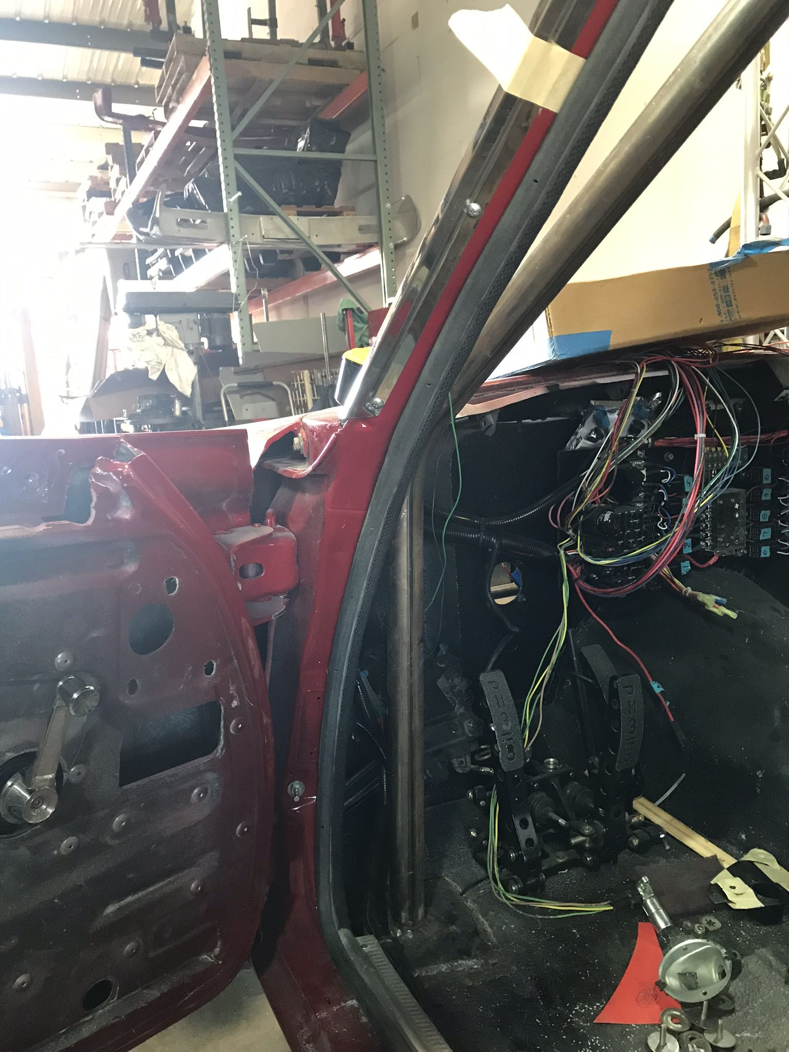 Weather Stripping Being Installed Around The Doors Pro Touring Plymouth Fury Touring
