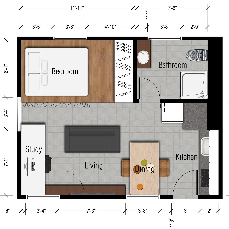 Floor Plan 500 Sq Ft Studio Apartment Small Apartment Plans Studio Apartment Floor Plans Studio Apartment Plan