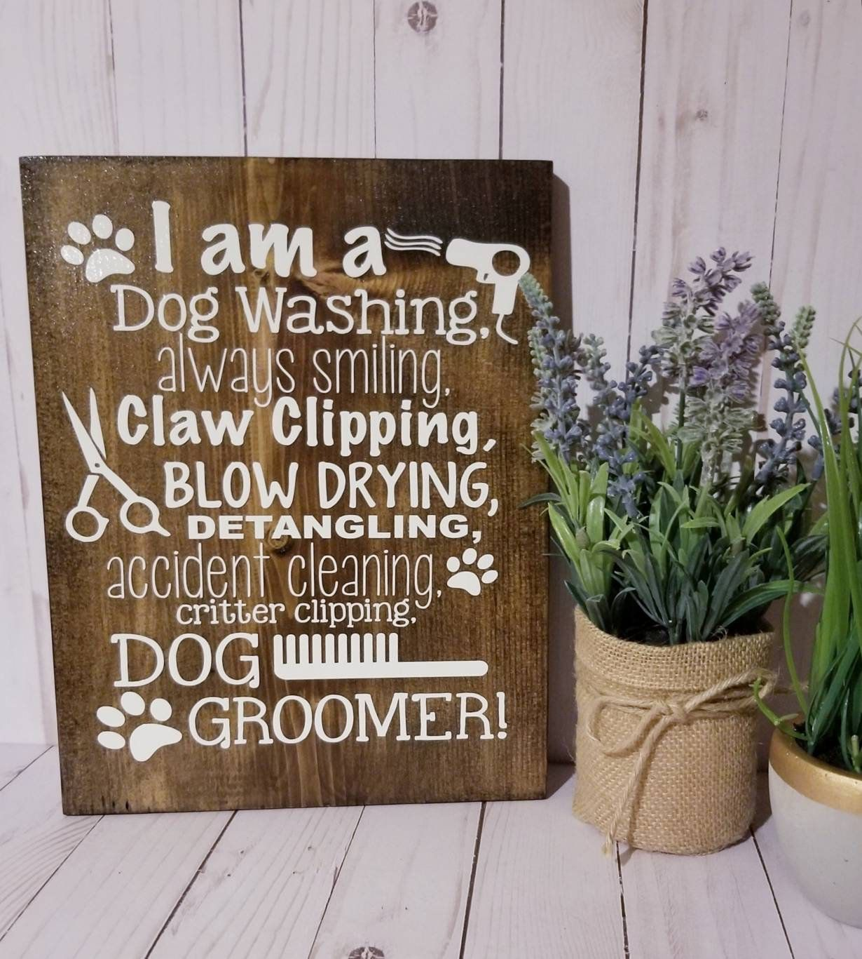 Dog Groomer Gift Grooming Business Rustic Home Decor Gift For
