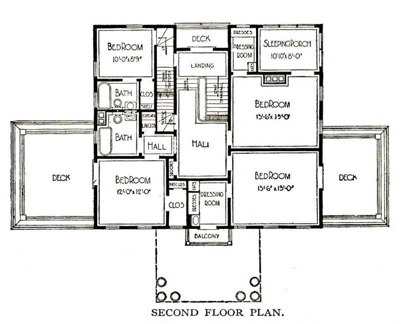 Sears magnolia house floor plan for Magnolia house plans