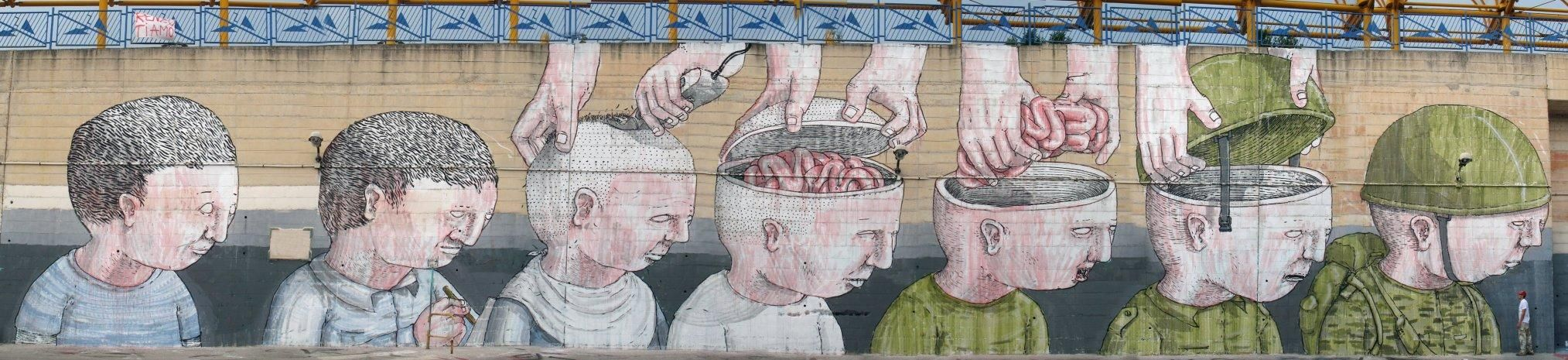 Blu The Brainwash Soldiers Street Art Activist Art Street Artists