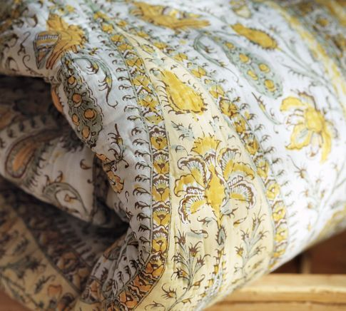 COLOR AND FEEL Josie Kalamkari Quilt Sham