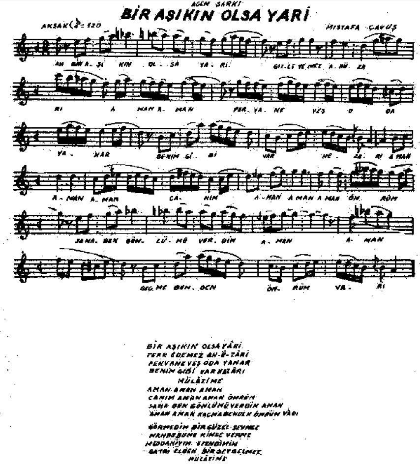 Muzik Notalari Turk Sanat Muzigi Muzik Notalari Kitap Muzik