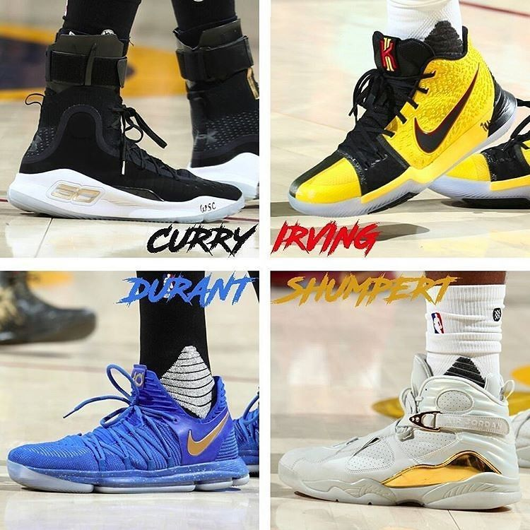 5d6d769773a2 regram  nbakixoncourt Who rocked the hottest kicks last night  Stephen Curry   stephencurry30  Under Armour Curry 4 PE Kyrie Irving   kyrieirving Ni  ...