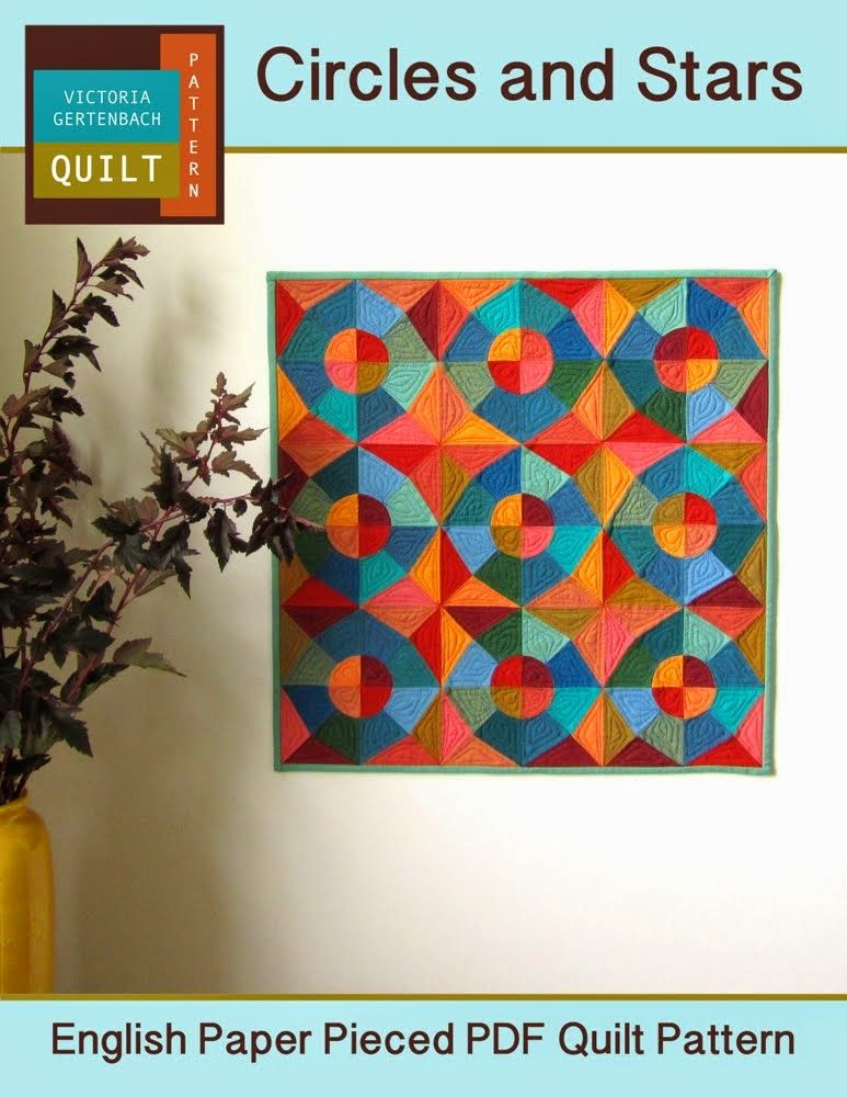 """""""Circles and Stars"""" English Paper Pieced Pattern"""