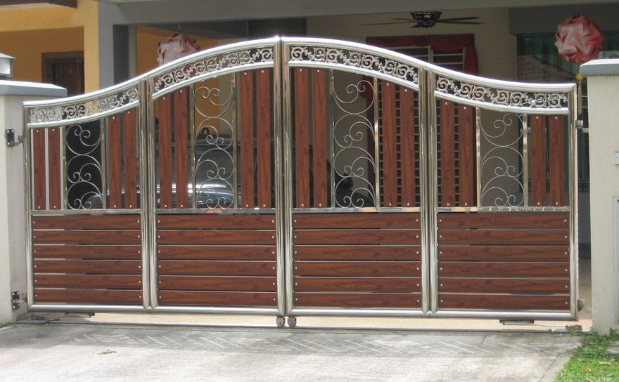 Wooden gate designs wooden main gate design fence for Wooden main gate design