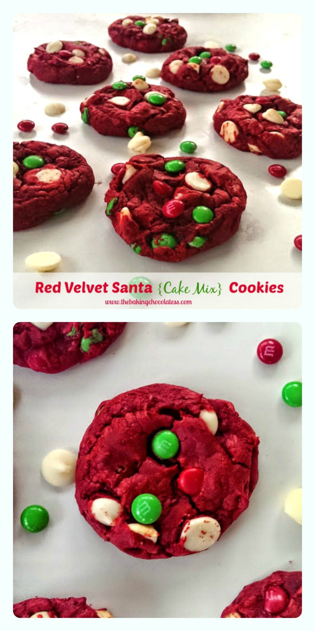 Red Velvet Santa (Cake Mix) Cookies Recipe Cake mix