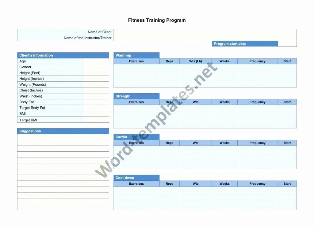 Personal Fitness Plan Template New 6 Personal Fitness Plan Example Work Out Picture Media Personalized Workout Plan Workout Programs Training Plan