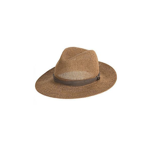 c69fc588 Goorin Bros. Fatima Straw Fedora Hat (614.605 IDR) ❤ liked on Polyvore  featuring accessories, hats, tall hat, wide brim fedoras, crown hat, straw  hat and ...