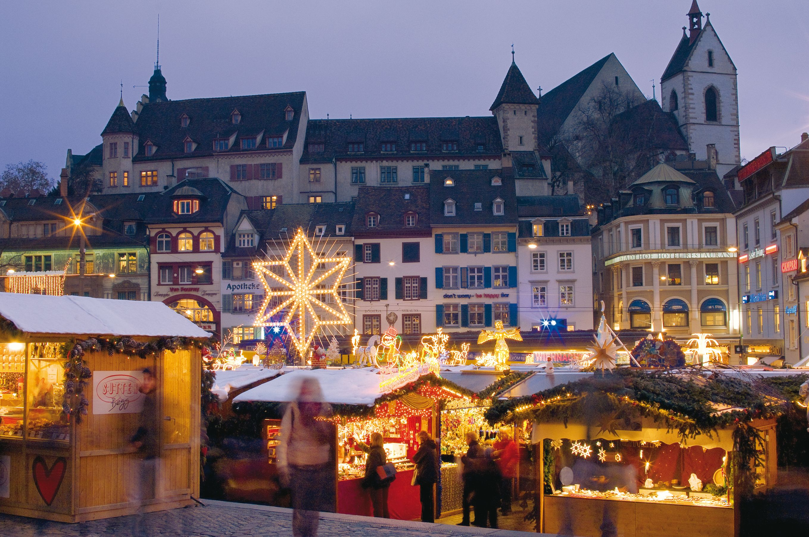 Basel Christmas Market.The Basel Christmas Market Is One Of The Most Beautiful In