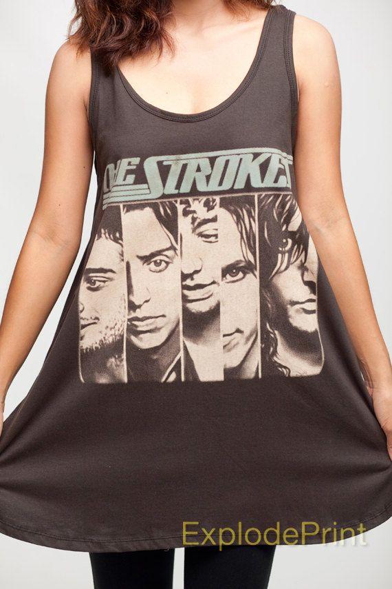 The Strokes Shirt Dress Julian Casablancas Indie Band Tank Top ...