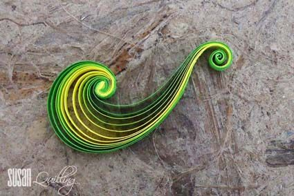 """SUSAN QUILLING: TUTORIAL: How to make """"MULTI STRIPS SCROLL"""""""