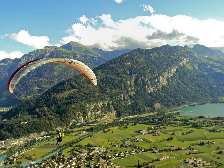 Paragliding Interlaken, Switzerland This city stole my