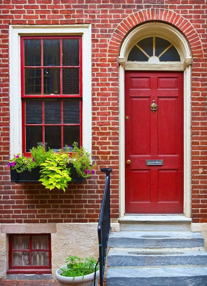 This door looks great with the brickwork! The colour is Mylands of ...