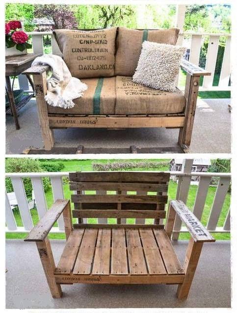 Terrazas | Muebles con palets | casa | Pinterest | Muebles con ...