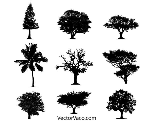 Tree Silhouette Vector Free Download Free Vector | She's Crafty ...