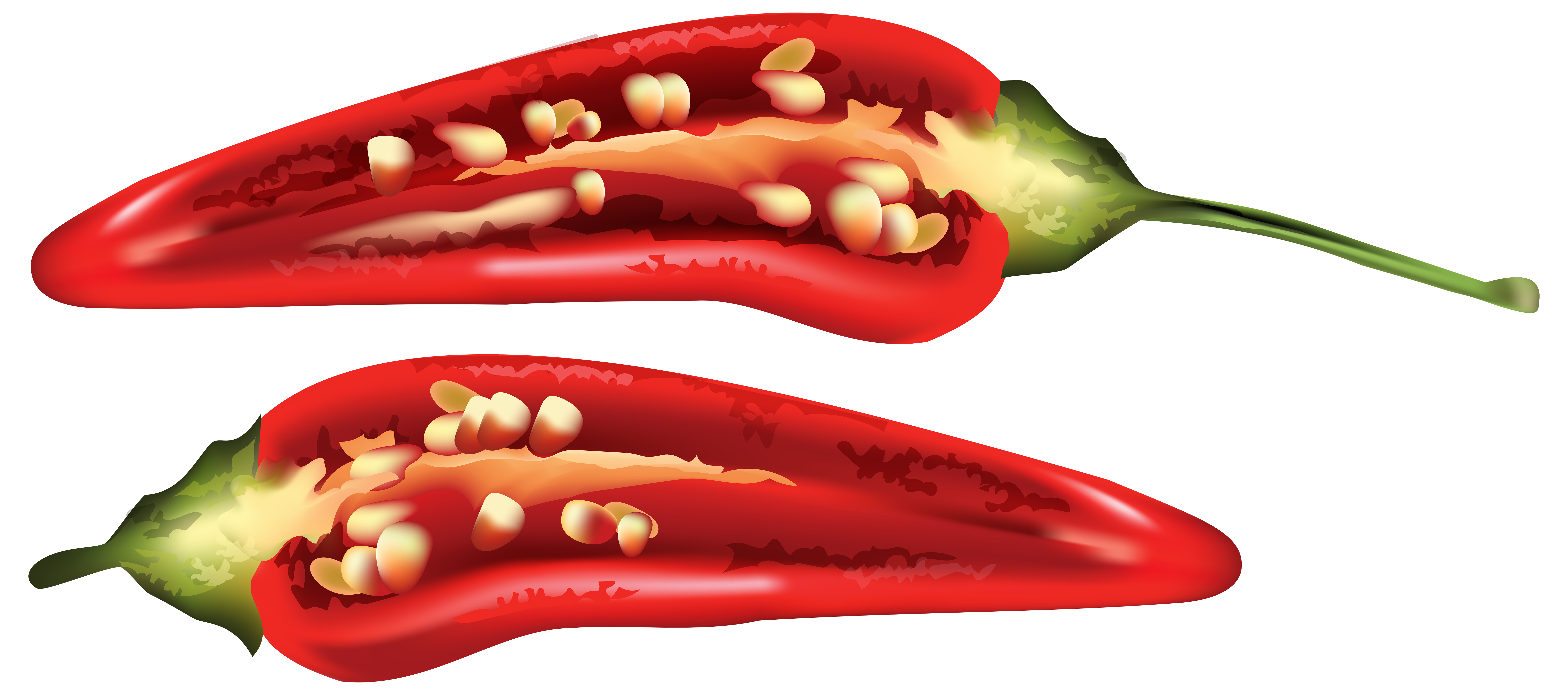 Half Red Chili Pepper Png Clip Art Image Gallery Yopriceville Stuffed Peppers Red Chili Red Chili Peppers