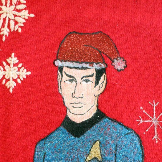 Make Your Own Nerdy Star Trek Ugly Christmas Sweater Using My Diy