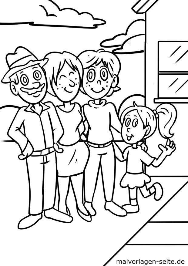 malvorlage familie  kostenlose ausmalbilder  malvorlagen