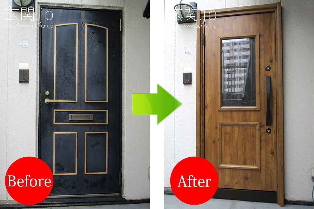 腐食の進んでしまった玄関ドア 三協アルミ 玄関ドア ドア
