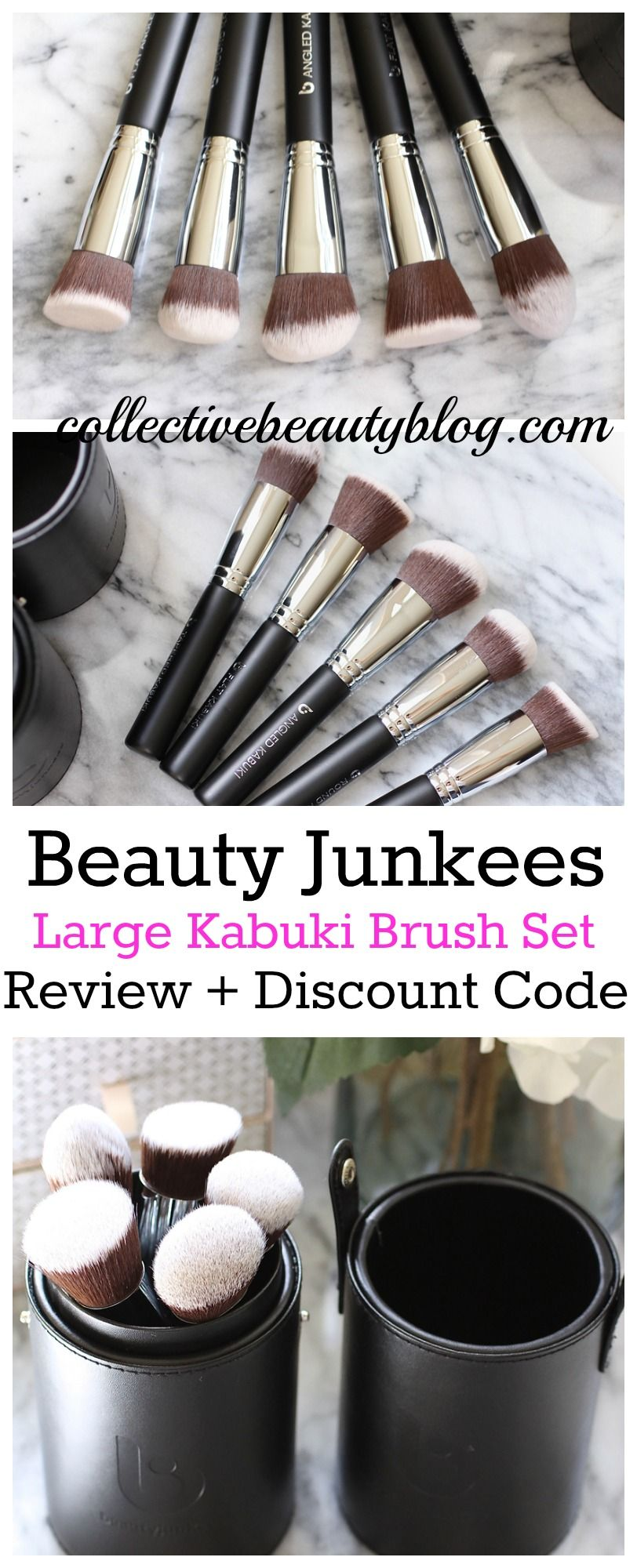 Beauty Junkees Large Kabuki Set Review + Discount Offer