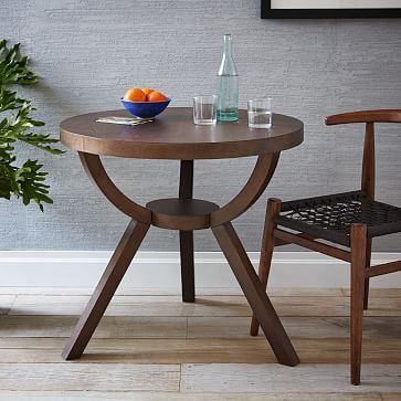 Marvelous Set On A Sculptural Solid Wood Base Inspired By Art Deco Lines, Our  Smoke Finished Arc Base Pedestal Bistro Table Seats Up To