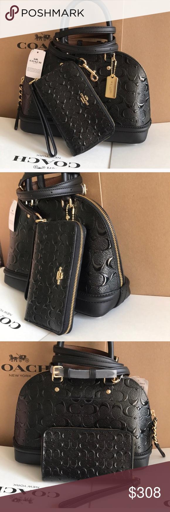 coach Sierra bag🎆Satchel/crossbody/set Wearing black