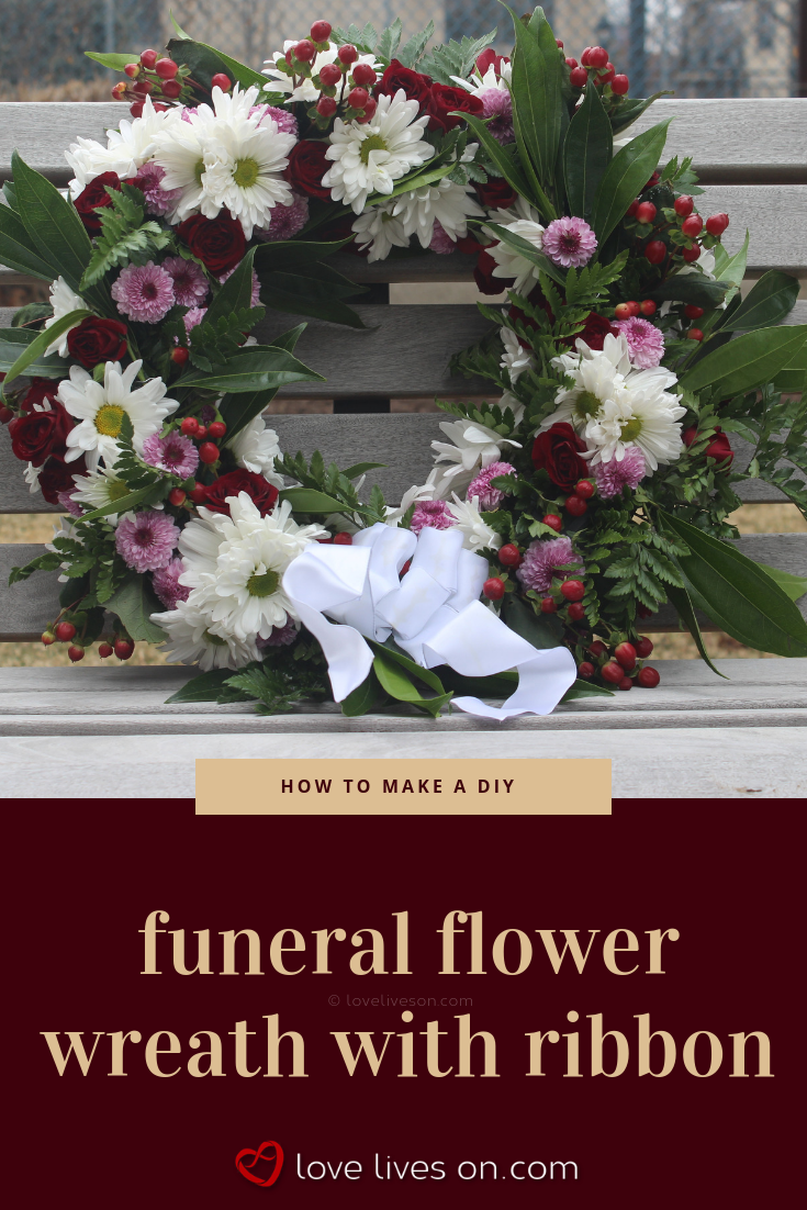 How to Make a Funeral Wreath With Ribbon | My Saves