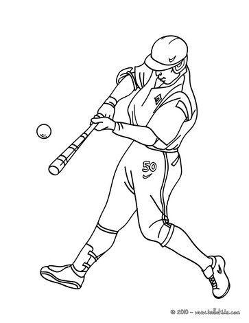 Batter coloring page | baby | Pinterest | Baile, Deporte y Dibujo